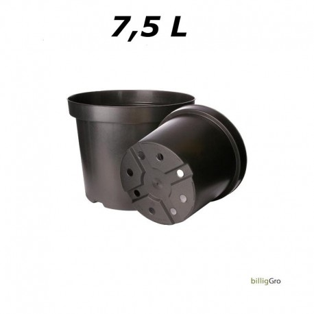 Ø 26 cm potte sort plast planter