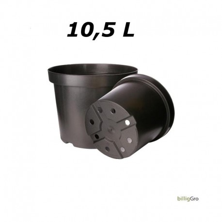 Ø29 potte 10,5 L sort plastik plante