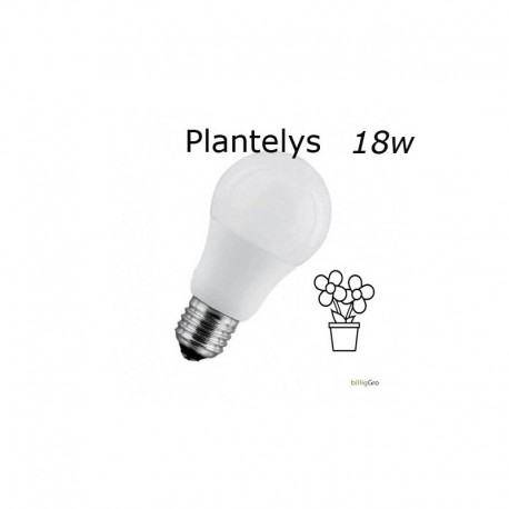 18W Hvid plantelys / vækstlys pære 1900 LUX 270°