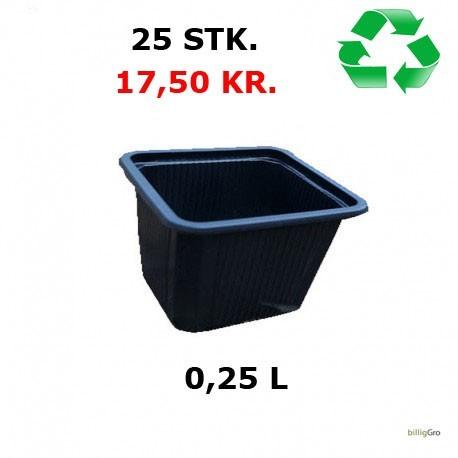 Firkantet plante potte 7 x 7 x 6
