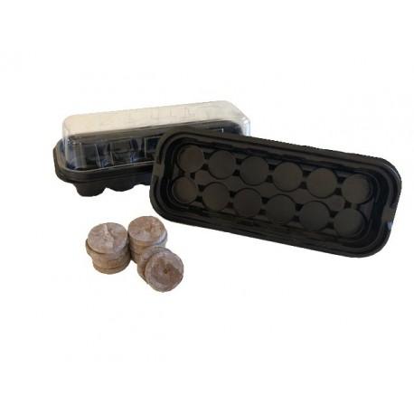 Minidrivhus til 12 stk. Jiffi 38/41mm