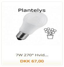 Plantelys Hvid 7W