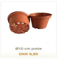 10 cm plastik potte til planter